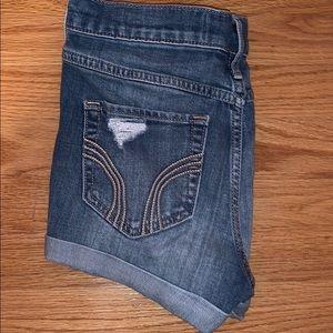 Medium Wash Hollister Jean Shorts